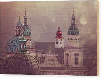 Spires Of Salzburg  Wood Print
