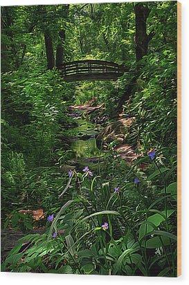 Spirit Bridge 2 Wood Print by William Horden