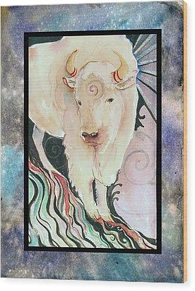 Spirit Buffalo Wood Print