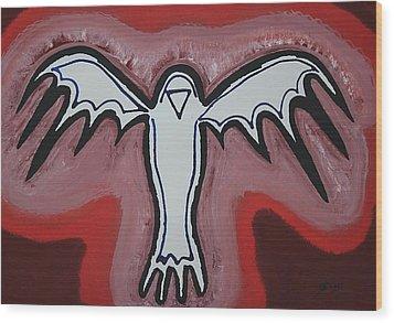 Spirit Crow Original Painting Wood Print