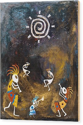 Spirit Dance Wood Print by Paul Tokarski
