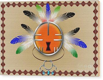 Spirit Face Wood Print
