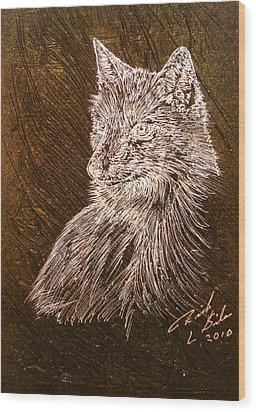 Spirit Fox  Wood Print by Rick Silas