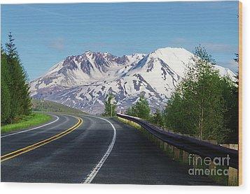 Spirit Lake Highway To Mt. St. Helens Wood Print