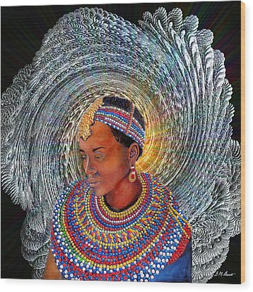 Spirit Of Africa Wood Print by Michael Durst