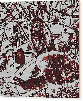 Spirit Of Leaves Wood Print by Gina O'Brien