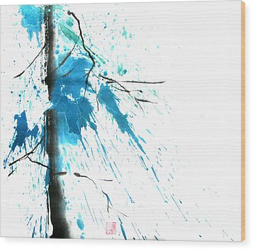 Spirit Of Pine I Wood Print by Mui-Joo Wee