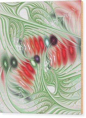Wood Print featuring the digital art Spirit Of Spring by Anastasiya Malakhova