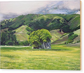 Spirit Rock Wood Print by Colleen Proppe