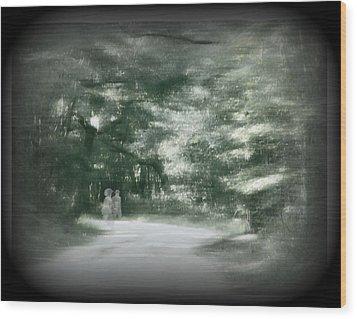 Spirit Walk Wood Print by Leslie Revels Andrews