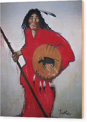 Spirit Warrior Wood Print by Patrick Trotter