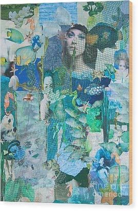 Wood Print featuring the mixed media Spirits Of The Sea by Sandy McIntire