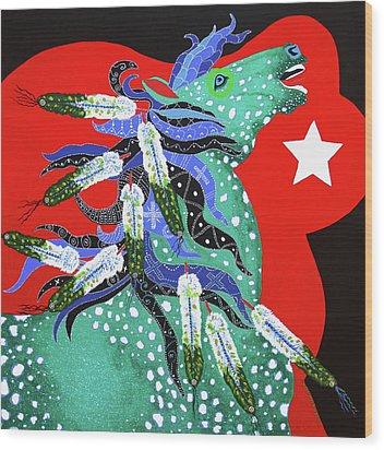 Spirits Rise Wood Print by Debbie Chamberlin