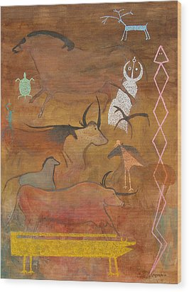 Spirits- Souls Of All Living Wood Print by Mordecai Colodner