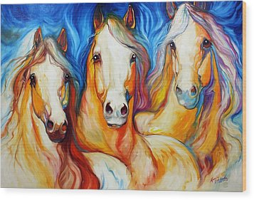 Spirits Three Wood Print by Marcia Baldwin