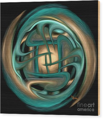Spiritual Art - Healing Labyrinth By Rgiada Wood Print