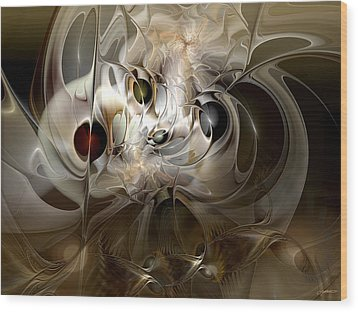 Spiritual Chops Wood Print by Casey Kotas
