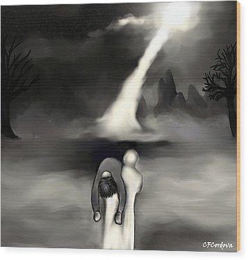 Spiritual Rescue Wood Print by Carmen Cordova