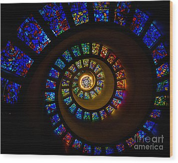 Spiritual Spiral Wood Print by Inge Johnsson