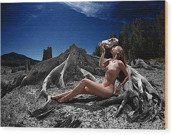 Wood Print featuring the photograph Spiritus Mundi by Dario Infini