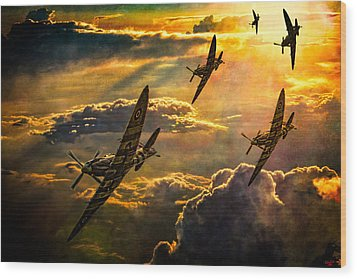 Wood Print featuring the photograph Spitfire Attack by Chris Lord