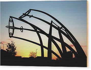 Spitfire Sunrise Wood Print