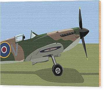 Spitfire Ww2 Fighter Wood Print by Michael Tompsett
