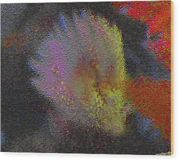 Wood Print featuring the photograph Splash - Abstract Digital Painting by Merton Allen