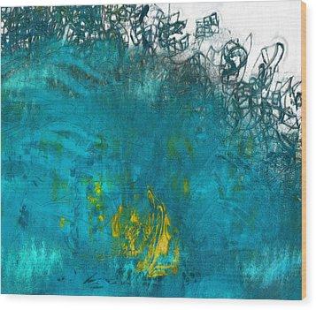Splash Wood Print by Jack Zulli