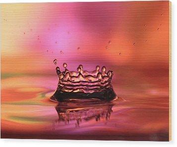 Splash Wood Print by Sabrina L Ryan