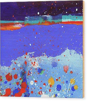 Splash#5 Wood Print by Jane Davies