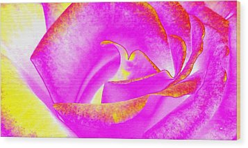 Wood Print featuring the mixed media Splendid Rose Abstract by Will Borden