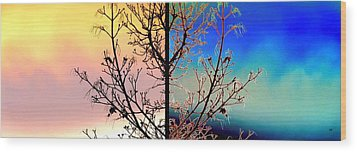 Wood Print featuring the digital art Splendid Spring Fusion by Will Borden