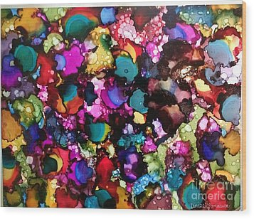 Wood Print featuring the painting Splendor by Denise Tomasura
