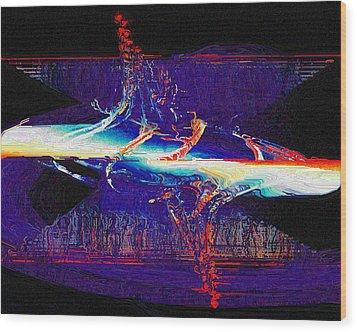 Wood Print featuring the digital art Split Infinity by Charmaine Zoe