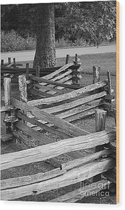Wood Print featuring the photograph Split Rail Fence by Eric Liller