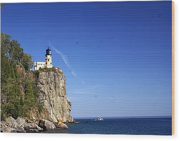 Split Rock 1 Wood Print by Marty Koch