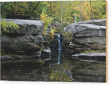 Split Rock In October #1 Wood Print by Jeff Severson