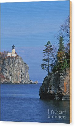 Split Rock Lighthouse - Fs000120 Wood Print