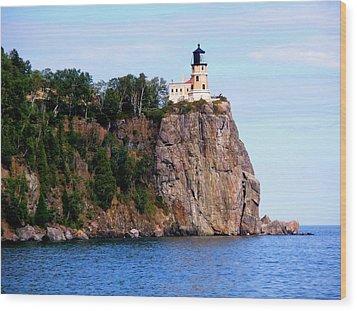 Split Rock Lighthouse Wood Print by Bridget Johnson