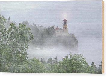 Split Rock Lighthouse Lake Superior North Shore Wood Print