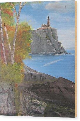 Split Rock Lighthouse Minnesota Wood Print