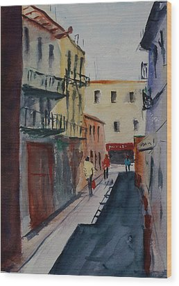 Spofford Street2 Wood Print by Tom Simmons