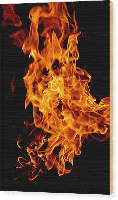 Spooky Hot Spirit Fire Michigan Wood Print by LeeAnn McLaneGoetz McLaneGoetzStudioLLCcom