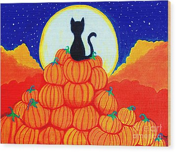 Spooky The Pumpkin King Wood Print by Nick Gustafson