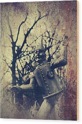 Spooky Tin Man Wizard Of Oz Wood Print by Aurelio Zucco