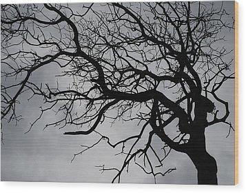 Spooky Tree Wood Print