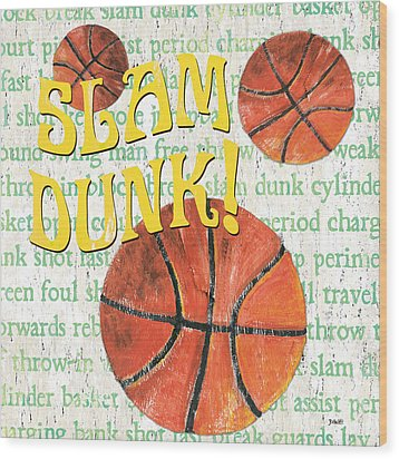 Sports Fan Basketball Wood Print by Debbie DeWitt
