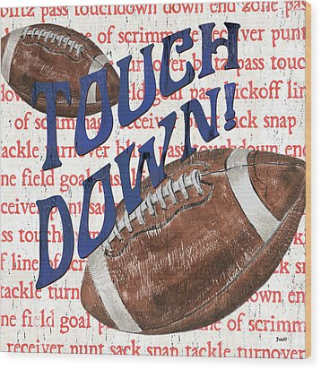 Sports Fan Football Wood Print