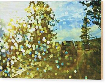 Spots Of Light Wood Print